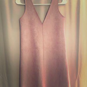 Zara Pink Suede Dress